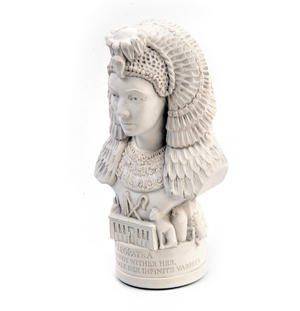 Cleopatra Statuette - Famous Faces Collection Plaster Bust Thumbnail 6