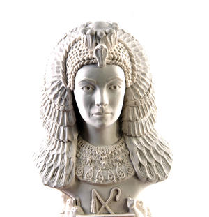 Cleopatra Statuette - Famous Faces Collection Plaster Bust Thumbnail 7