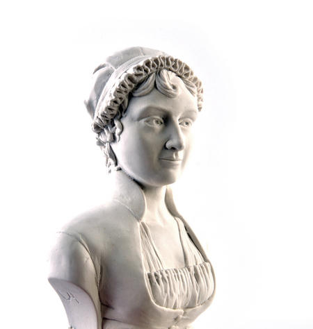 Jane Austen Statuette - Famous Faces Collection Plaster Bust