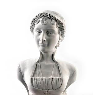 Jane Austen Statuette - Famous Faces Collection Plaster Bust Thumbnail 2