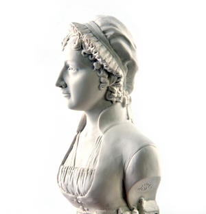 Jane Austen Statuette - Famous Faces Collection Plaster Bust Thumbnail 3