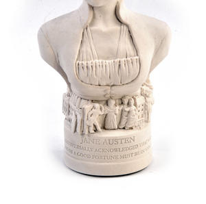 Jane Austen Statuette - Famous Faces Collection Plaster Bust Thumbnail 5