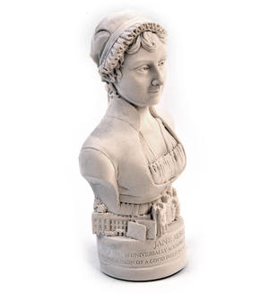 Jane Austen Statuette - Famous Faces Collection Plaster Bust Thumbnail 6
