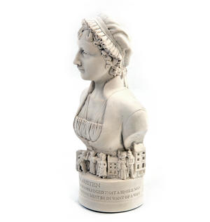 Jane Austen Statuette - Famous Faces Collection Plaster Bust Thumbnail 7