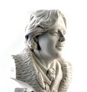 Oscar Wilde Statuette - Famous Faces Collection Plaster Bust