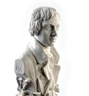 Robert Burns Statuette - Famous Faces Collection Plaster Bust Thumbnail 1