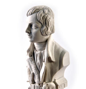 Robert Burns Statuette - Famous Faces Collection Plaster Bust Thumbnail 2