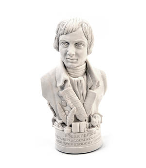 Robert Burns Statuette - Famous Faces Collection Plaster Bust Thumbnail 3