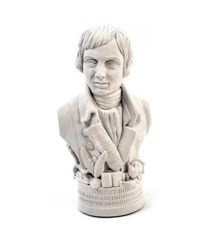 Robert Burns Statuette - Famous Faces Collection Plaster Bust Thumbnail 3