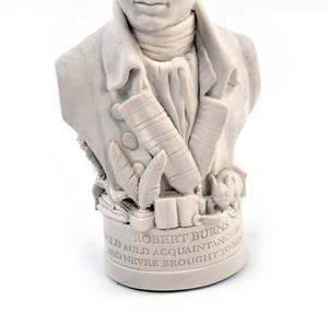 Robert Burns Statuette - Famous Faces Collection Plaster Bust Thumbnail 4