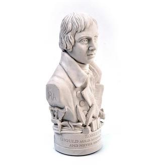 Robert Burns Statuette - Famous Faces Collection Plaster Bust Thumbnail 5