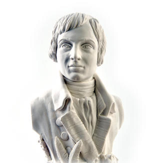 Robert Burns Statuette - Famous Faces Collection Plaster Bust Thumbnail 7