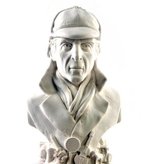 Sherlock Holmes Statuette - Famous Faces Collection Plaster Bust Thumbnail 1