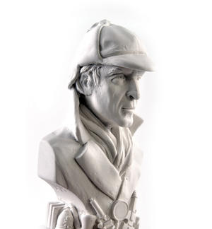Sherlock Holmes Statuette - Famous Faces Collection Plaster Bust Thumbnail 2