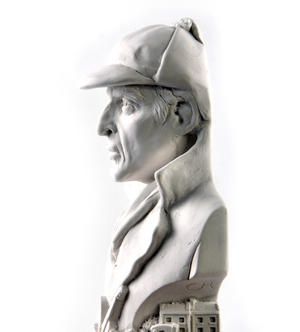 Sherlock Holmes Statuette - Famous Faces Collection Plaster Bust Thumbnail 3