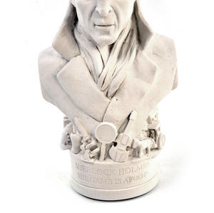Sherlock Holmes Statuette - Famous Faces Collection Plaster Bust Thumbnail 4