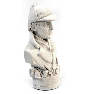 Sherlock Holmes Statuette - Famous Faces Collection Plaster Bust Thumbnail 5