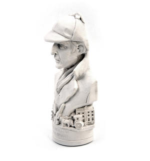 Sherlock Holmes Statuette - Famous Faces Collection Plaster Bust Thumbnail 6