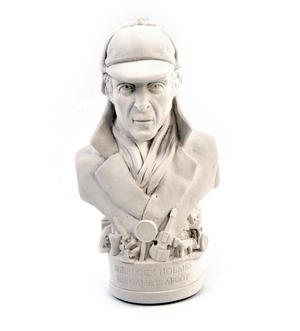 Sherlock Holmes Statuette - Famous Faces Collection Plaster Bust Thumbnail 7
