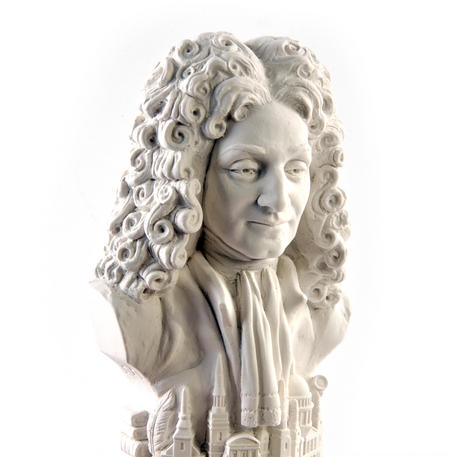 Sir Christopher Wren Statuette - Famous Faces Collection Plaster Bust