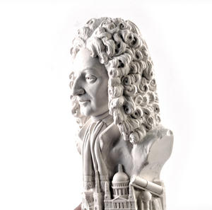 Sir Christopher Wren Statuette - Famous Faces Collection Plaster Bust Thumbnail 2