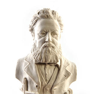William Morris Statuette - Famous Faces Collection Plaster Bust Thumbnail 1