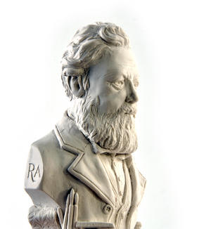 William Morris Statuette - Famous Faces Collection Plaster Bust Thumbnail 2