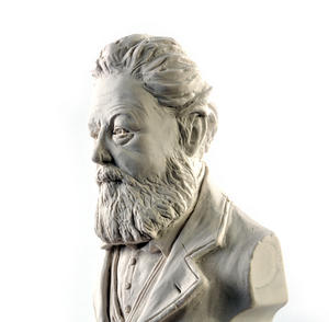 William Morris Statuette - Famous Faces Collection Plaster Bust Thumbnail 3