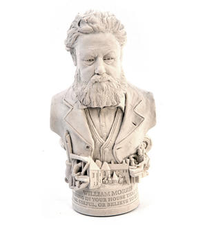 William Morris Statuette - Famous Faces Collection Plaster Bust Thumbnail 4
