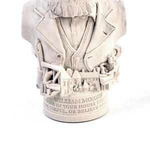 William Morris Statuette - Famous Faces Collection Plaster Bust Thumbnail 5