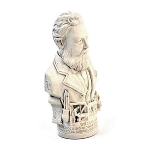 William Morris Statuette - Famous Faces Collection Plaster Bust Thumbnail 6
