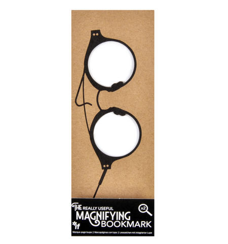 Full Rim Round Glasses - The Really Useful Magnifying Bookmark  x2 Magnification