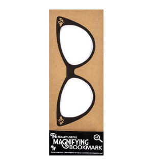 Cat Eye Glasses - The Really Useful Magnifying Bookmark  x2 Magnification