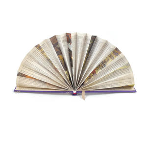 Purple Book Fan - The Literary Hand Fan