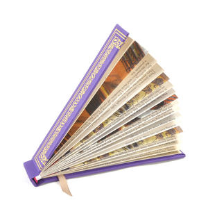 Purple Book Fan - The Literary Hand Fan Thumbnail 3
