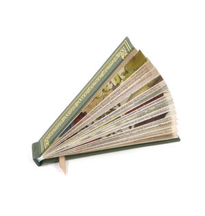 Green Book Fan - The Literary Hand Fan Thumbnail 2
