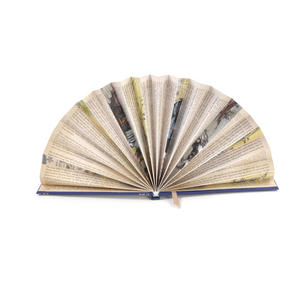 Blue Book Fan - The Literary Hand Fan Thumbnail 1