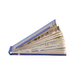 Blue Book Fan - The Literary Hand Fan Thumbnail 3