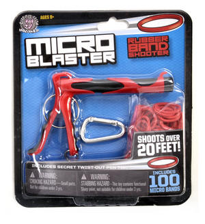 Red Micro Blaster Band Shot - Rubber Band Launcher