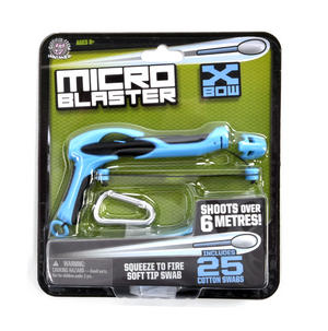 Blue Micro Blaster X Bow - Cotton Bud Launcher Thumbnail 1