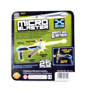 Blue Micro Blaster X Bow - Cotton Bud Launcher Thumbnail 2