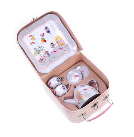 Fairy & Unicorn Tea Party Set - 7pc Miniature Tea Set - In Square Case