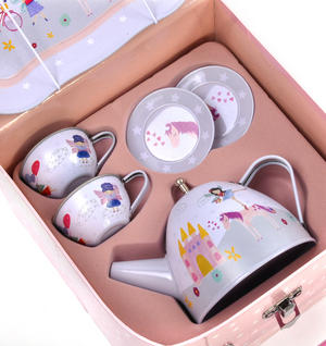 Fairy & Unicorn Tea Party Set - 7pc Miniature Tea Set - In Square Case Thumbnail 3