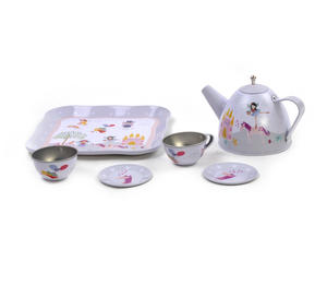 Fairy & Unicorn Tea Party Set - 7pc Miniature Tea Set - In Square Case Thumbnail 5
