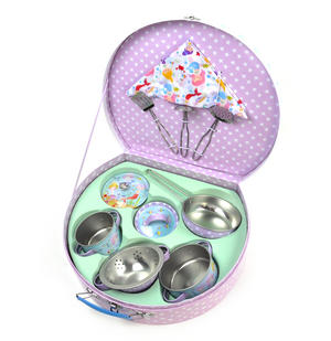 Mermaid Chef's Kitchen Set - 10pc Miniature Cooking Set in Round Case Thumbnail 1