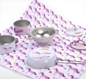 Unicorn Chef's Kitchen Set - 8pc Miniature Cooking Set in Round Case Thumbnail 4