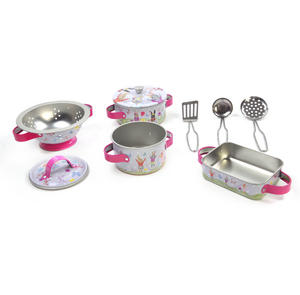 Bunny Rabbits Chef's Kitchen Set - 9pc Miniature Cooking Set in Oblong Case Thumbnail 4