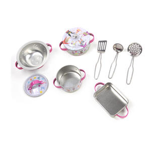 Bunny Rabbits Chef's Kitchen Set - 9pc Miniature Cooking Set in Oblong Case Thumbnail 5