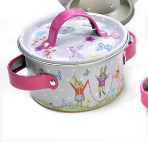 Bunny Rabbits Chef's Kitchen Set - 9pc Miniature Cooking Set in Oblong Case Thumbnail 8