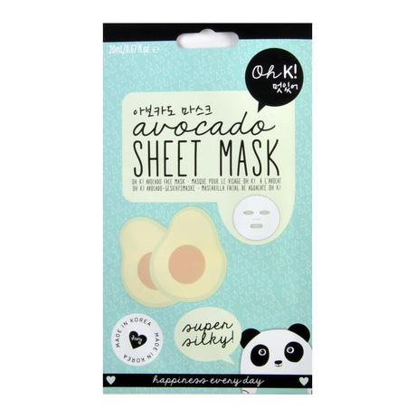 Avocado Sheet Mask - Super Silky Sheet Face Mask - Oh K! Made in Korea